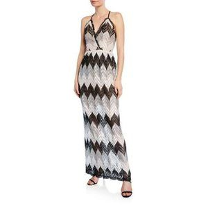 Dress the Population Lucia Chevron Maxi Dress Medi